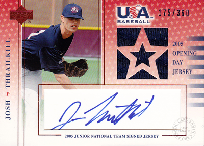 MLBカード【ジョシュ スレールキル】05/06 USA Baseball Junior National Team Opening Day Jersey Signature Blue 360枚限定!(175/360)(Josh Thrailkill)