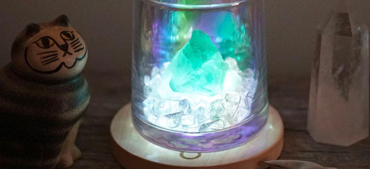 アバロンシェルとクリスタルさざれの浄化セット【ホワイトセージ・お香用の受け皿】