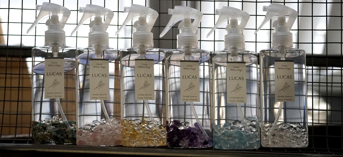 LUCAS サンダルウッド(白檀)&エクストラ・ホワイトセージ インセンス 【スティックタイプ】 ヨガ 瞑想用 お香