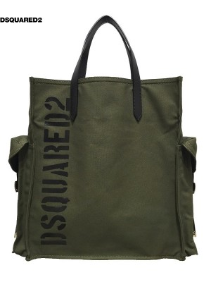 DSQUARED2/ディースクエアード メンズ DUFFLE CANVAS MILITARE BAG 2019SS PRECOLLECTION