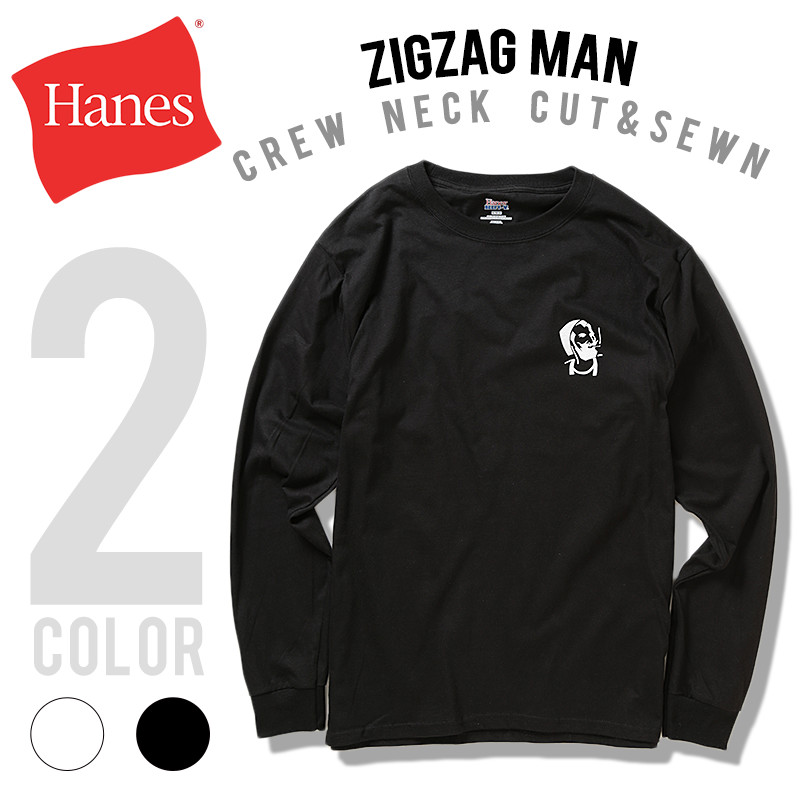 Hanes × Zig-Zag / Logo Long Sleeve T-Shirt
