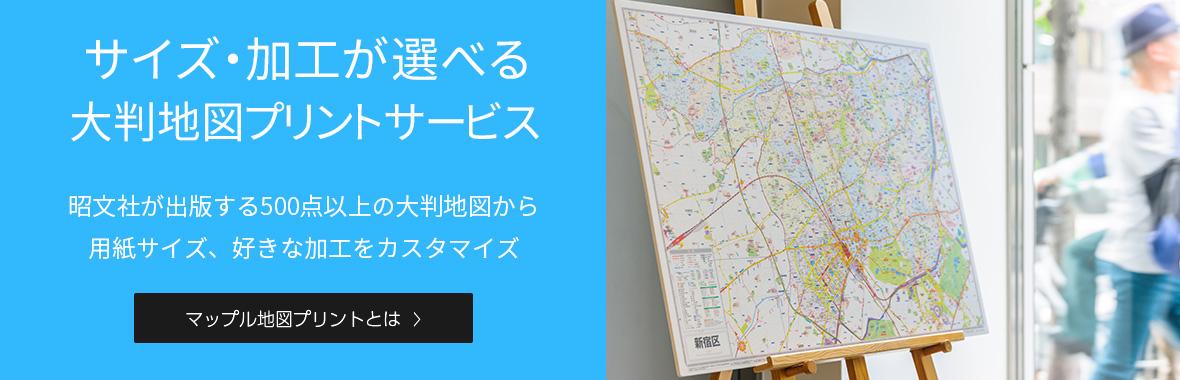 都市地図から世界地図まで  豊富な地図ラインナップ